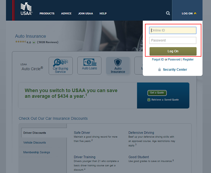 USAA Auto Insurance Login and Make a Payment Information - DP Tech Group