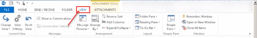 outlook 2013 1 file view