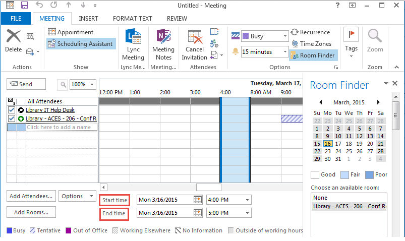 how to add meeting rooms in outlook 2013