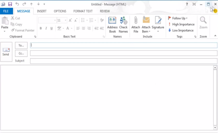 how to stop the email mormory in outlook