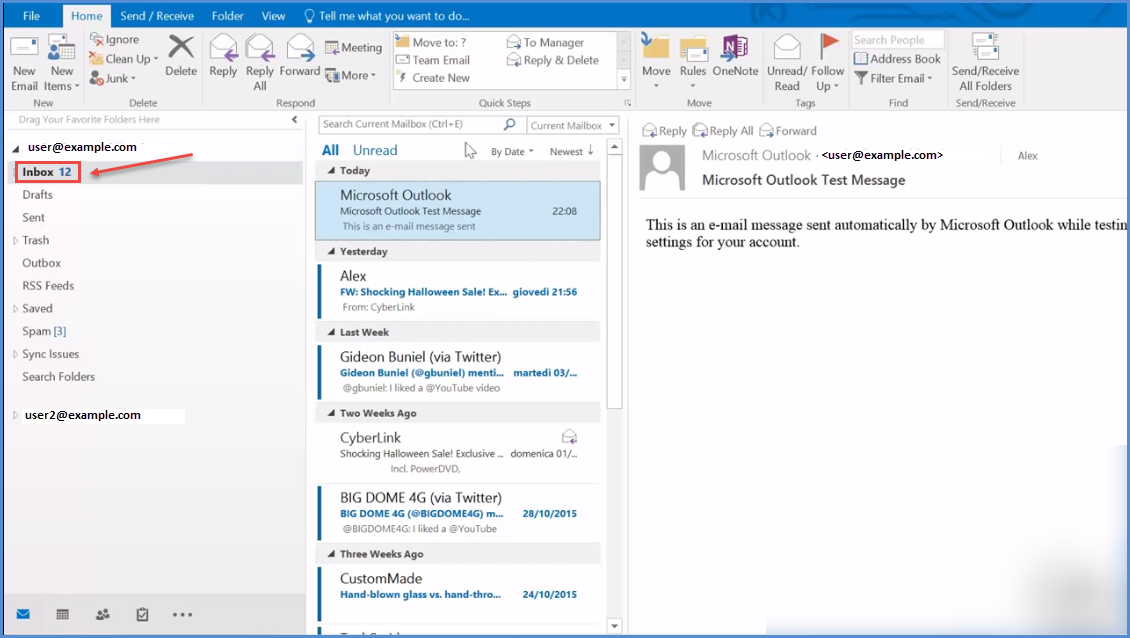 how to find spam folder in outlook 2016