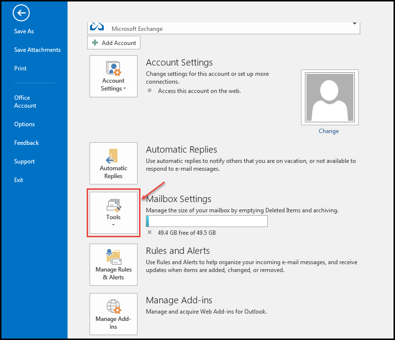 outlook 2016 2 tools for cleanup