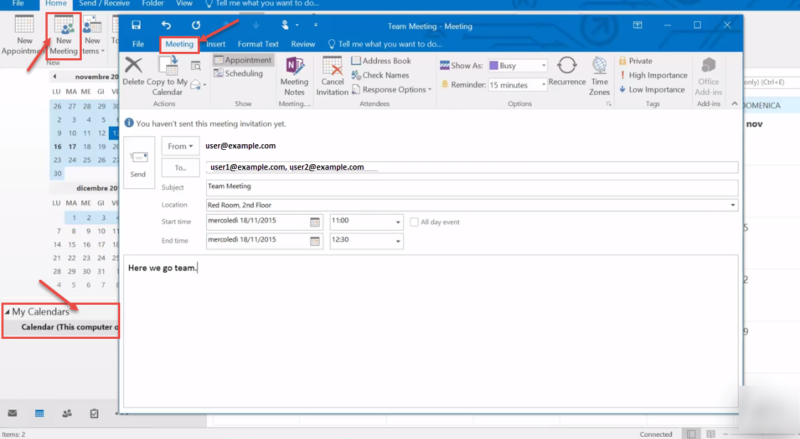 outlook how to set up group email