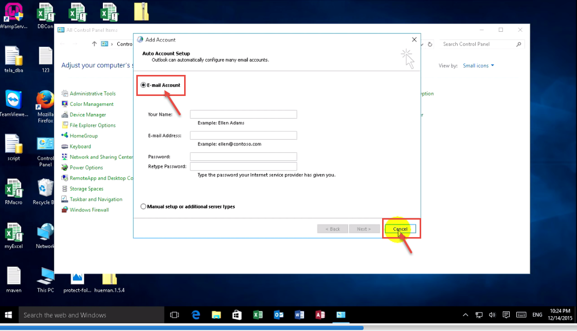 how to set an email account as default in outlook