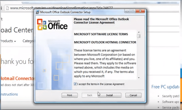 outlook 2010 9 install