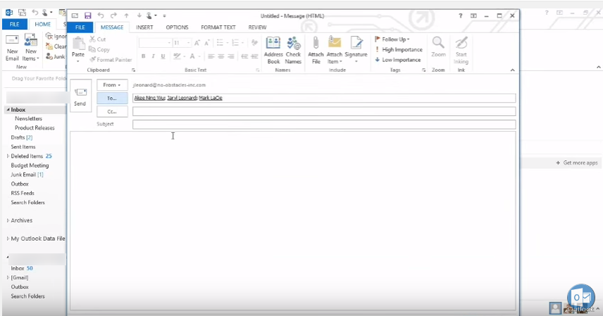 how to create a new email group in outlook