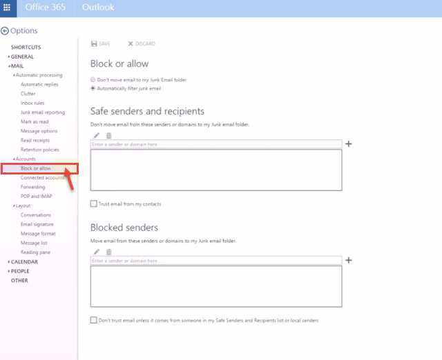 how to change office 365 account