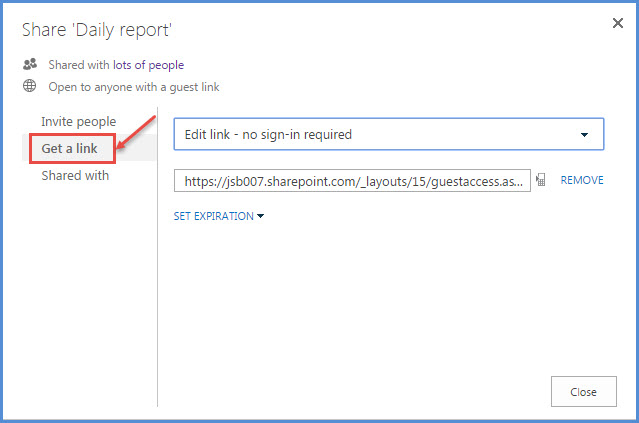 link office 365