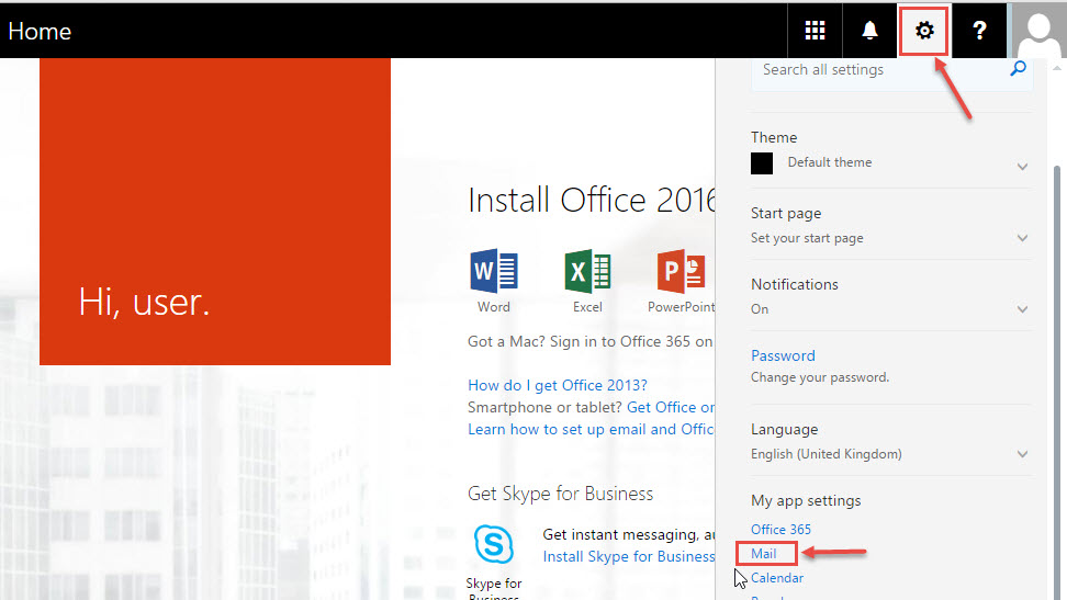 How to setup email forwarding in office 365 office 365 support - Email settings for office 365 ...