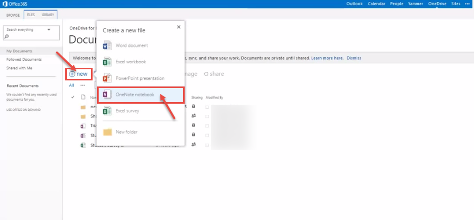 How to work with OneNote online in Office 365   Office 365