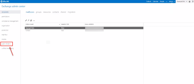 Creating public folder in Exchange Online, Office 365 | Office 365