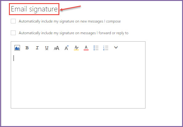 How to set email signature in office 365 email office 365 support - Email settings for office 365 ...