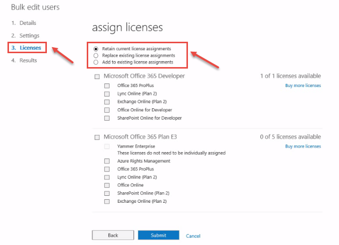 Managing User Licenses in Office 365 Admin Center | Office