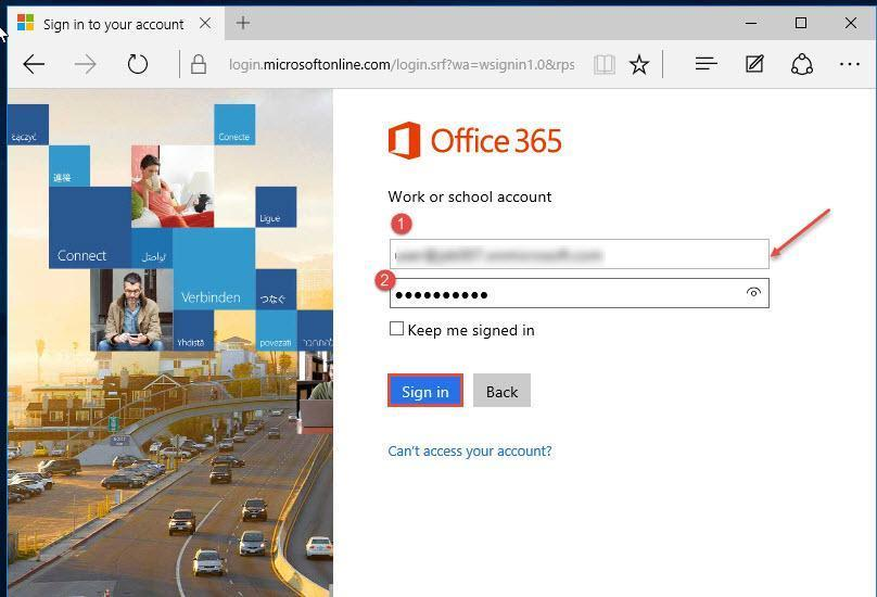 outlook login 365