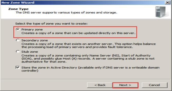 Server Screen DNS