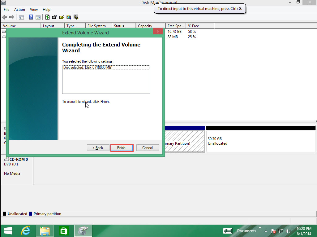 how to extend size of partition of drive