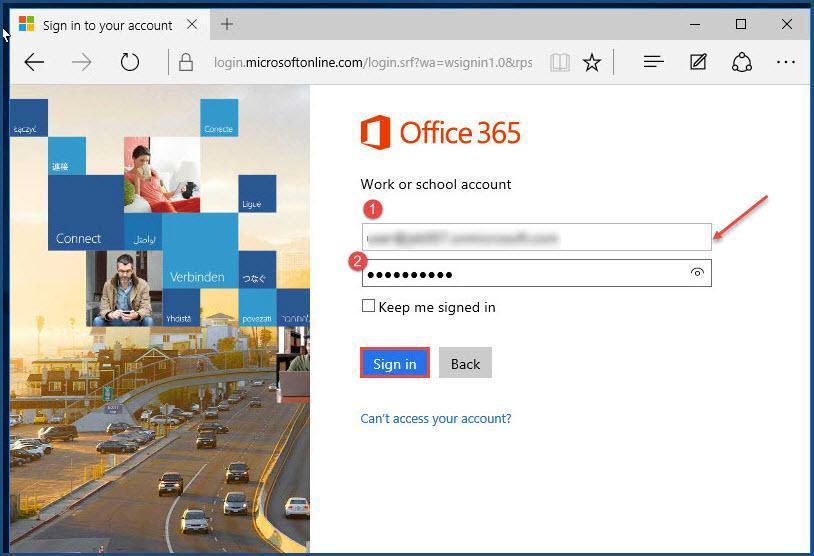 Outlook Office 365 Login
